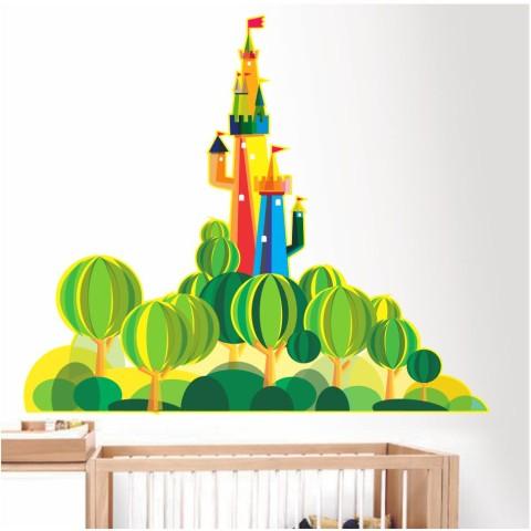 Vinilos Decorativos - Castillo colores