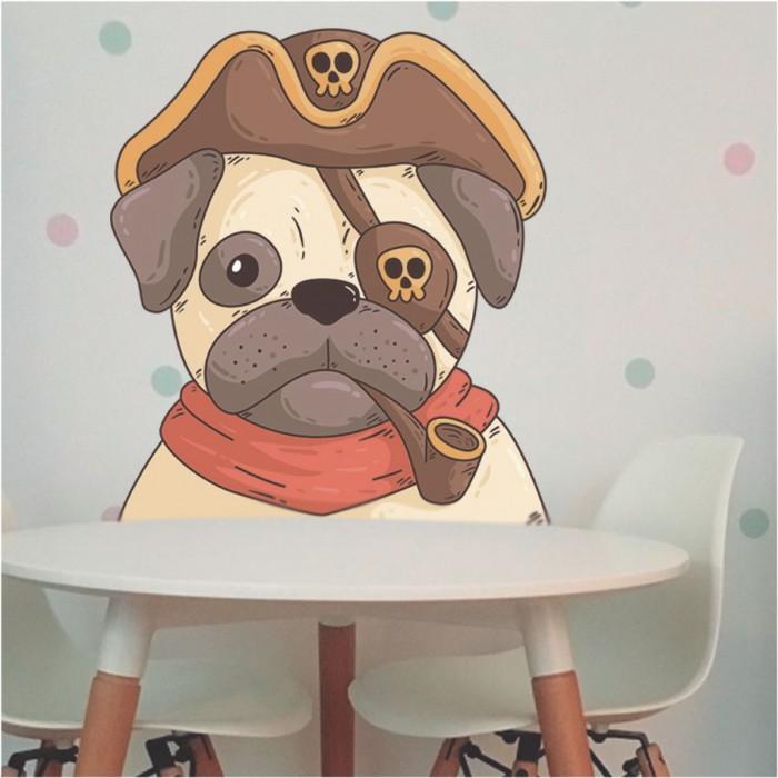 Vinilos Decorativos - Perro pirata