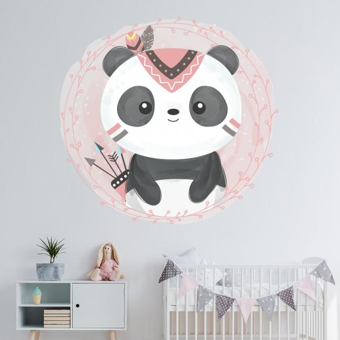Vinilo decorativo infantil Boho Panda
