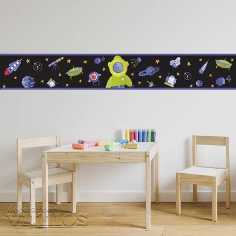 Cenefa Infantil - Astronauta