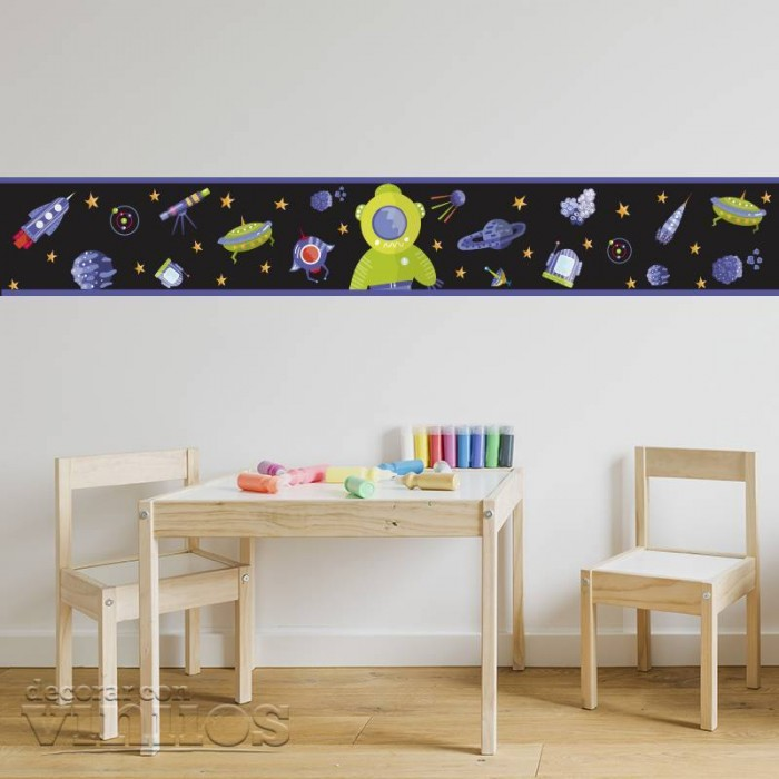 Cenefa Infantil - AStronauta en el espacio
