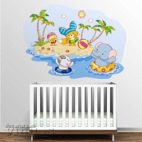 Vinilo infantil - En la playa 2