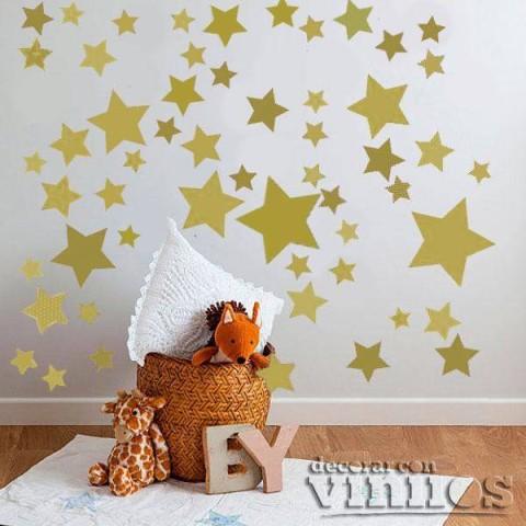 Vinilo 140 Estrellas - Doradas