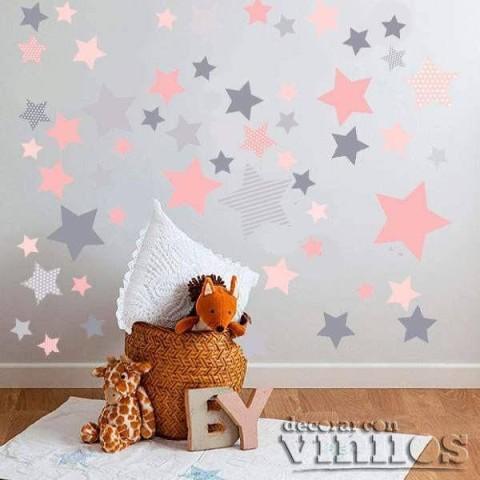 Vinilo 140 Estrellas - 4 Colores Personalizados