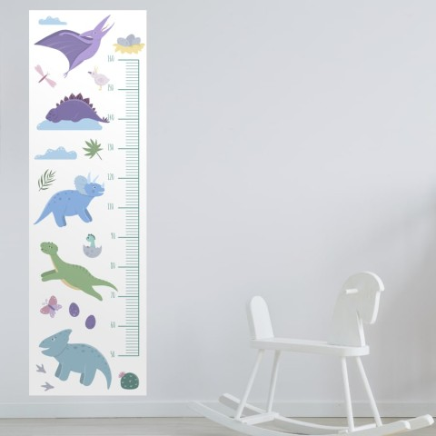 Medidor Infantil - Dinosaurios Blanco