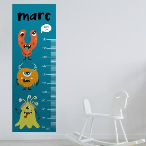 Medidor Infantil - Monstruos Personalizado