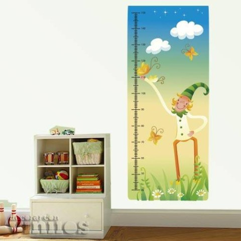 Medidor Infantil - Duende y mariposa