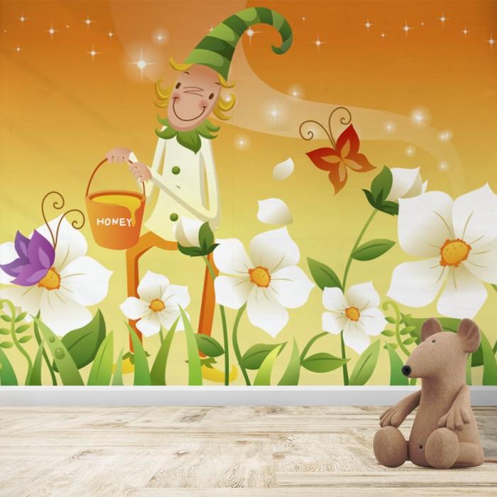 Fotomural Infantil - Duende con mariposas