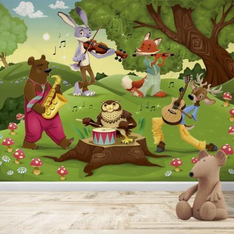 Fotomural Infantil - Animales musicales