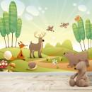 Fotomural Infantil - Animales en el bosque