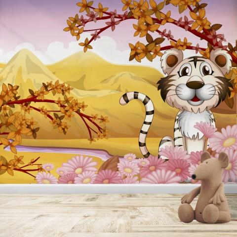 Fotomural Infantil  - Tigre Blanco