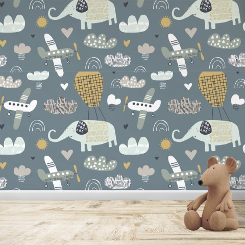 Mural Infantil - Patrón Elefante