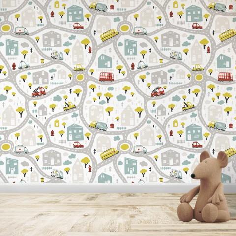 Mural Infantil - Patrón Calles