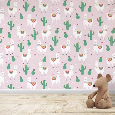 Mural Infantil - Patrón Llama