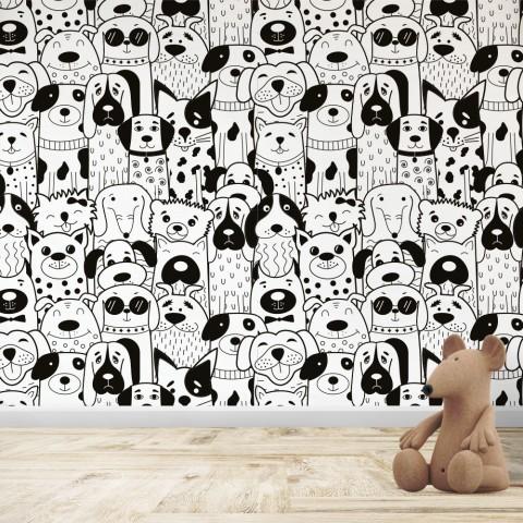 Mural Infantil - Patrón Perros