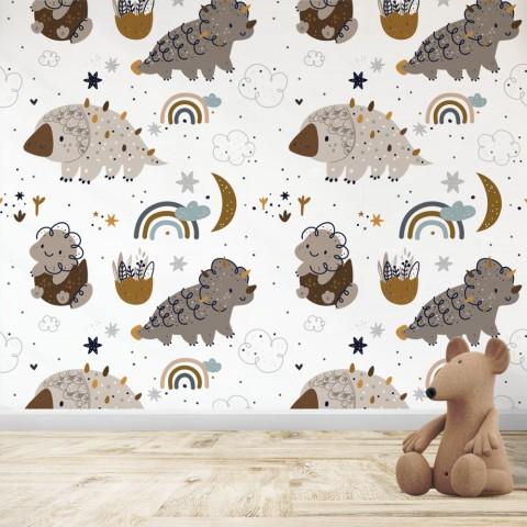 Mural Infantil - Patrón Dinosaurios