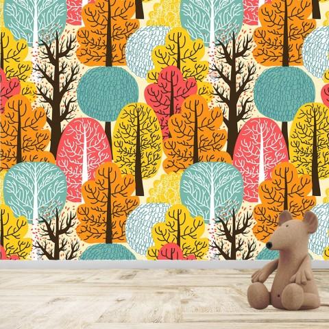 Mural Infantil - Arboles Otoño