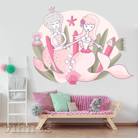 Vinilos Decorativos - Sirenas rosas
