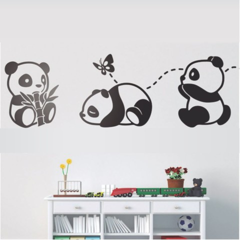 Vinilos Decorativos - Osos pandas
