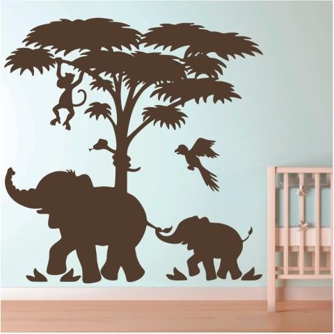 Vinilos Decorativos - Elefantes en la selva