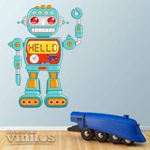 Vinilos Decorativos - Robot Hello
