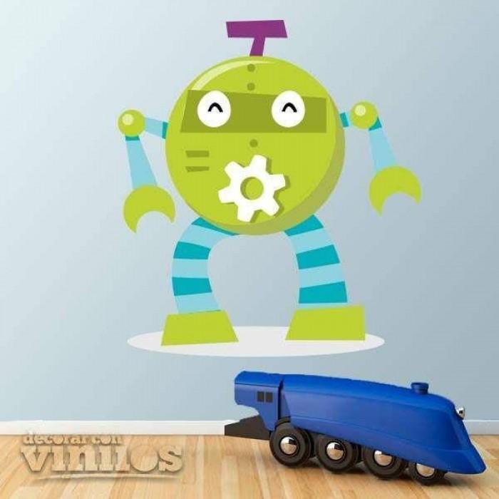 Vinilos Decorativos - Robot verde