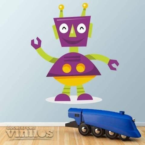 Vinilos Decorativos - Robot Violeta