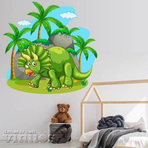 Vinilos Decorativos - Dinosaurio Triceratops