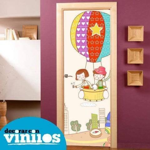 Vinilo para Puerta Infantil - En globo