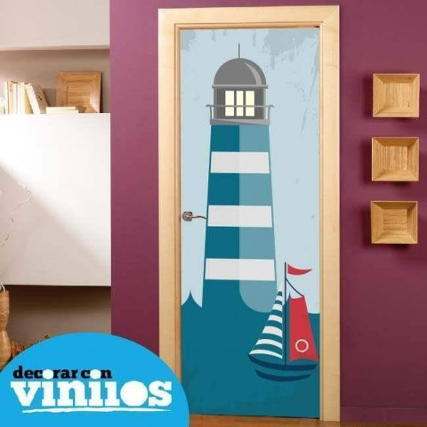 Vinilo para Puerta Infantil - Faro