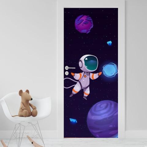 Vinilo Puerta Infantil - Astronauta