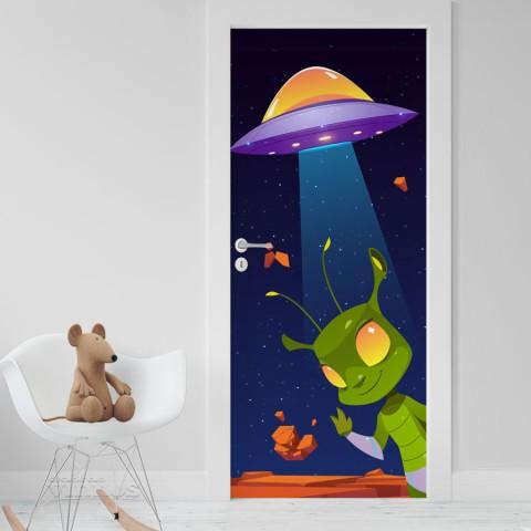 Vinilo Puerta Infantil - Extraterrestre