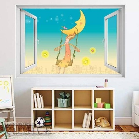 Ventana Infantil - Columpio en la luna