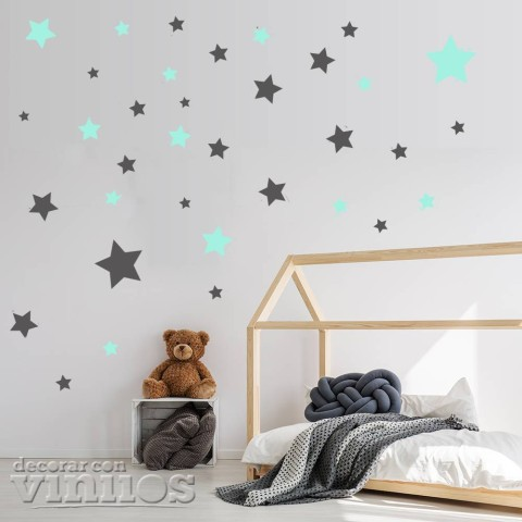 Vinilo 70 Estrellas - 2 colores personalizados