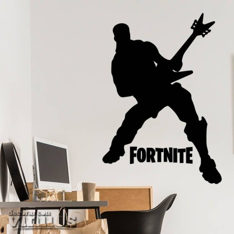 Vinilos Decorativos - Fortnite Guitarra