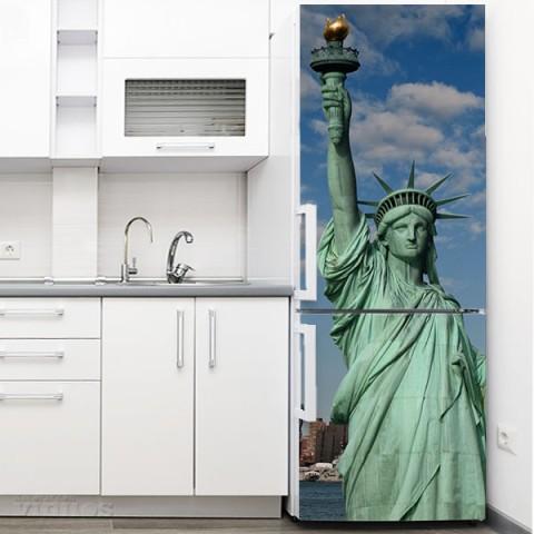 Vinilo para Nevera - Estatua Libertad