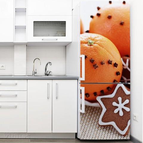 Vinilo para Nevera - Naranjas y galletas