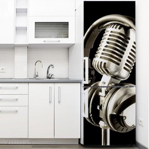 Vinilo para Nevera - Microfono