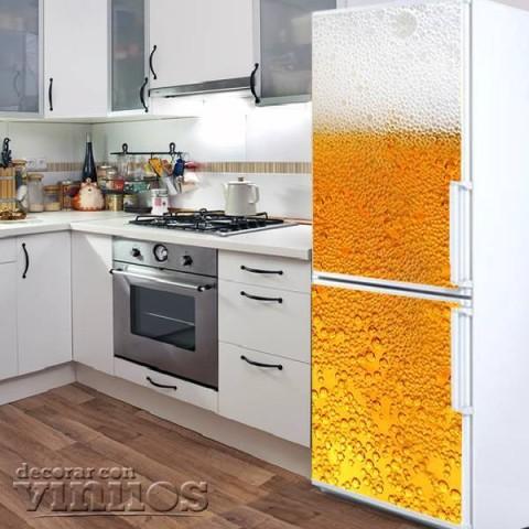 Vinilo para Nevera - Cerveza
