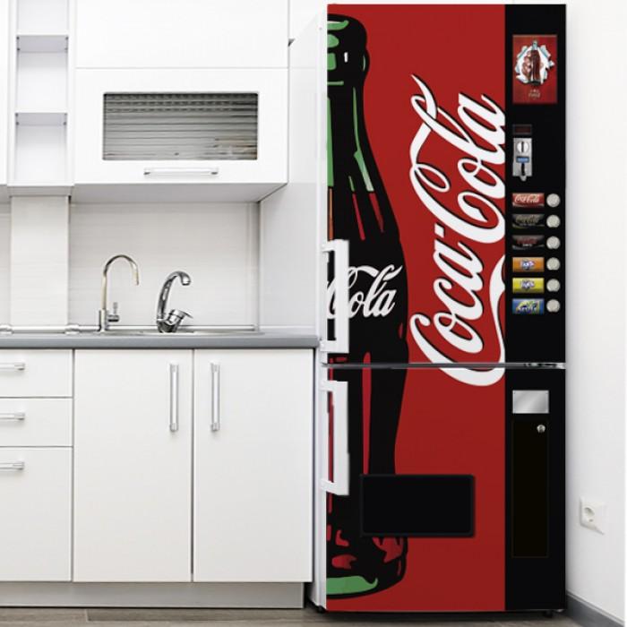 Vinilo para Nevera - Coca Cola expendedora