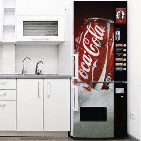 Vinilo para Nevera - Expendedora Lata Coca Cola