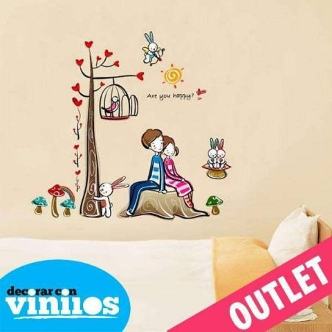 Vinilo decorativo - Parejita