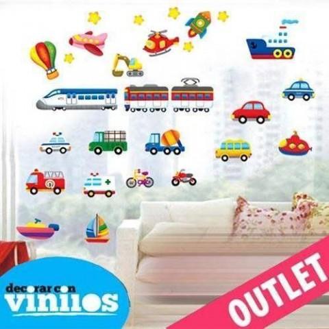 Vinilo decorativo - Vehiculos Infantiles