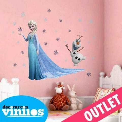Vinilo decorativo - Elsa y Olaf