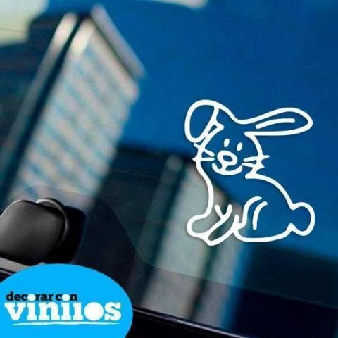 Pegatina de Familia - Conejo
