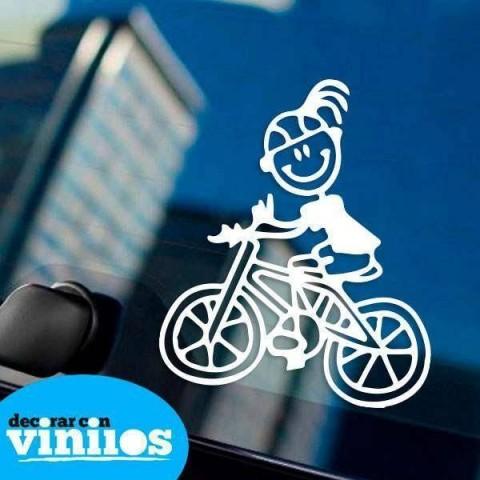 Pegatina de Familia - Hija Ciclista