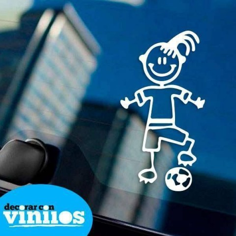 Pegatina de Familia - Hija Futbolista