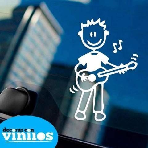 Pegatina de Familia - Hijo Guitarra