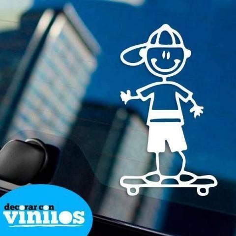 Pegatina de Familia - Hijo Skate