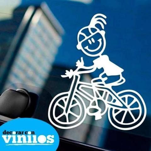 Pegatina de Familia - Madre Ciclista